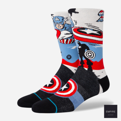 STANCE CAPTAIN AMERICA MARQUEE - Off White