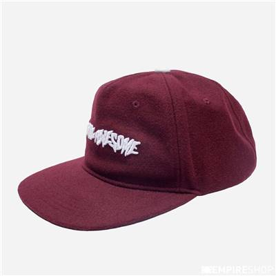 FUCKING AWESOME WOOL CLASSIC LOGO HAT - Burgundy