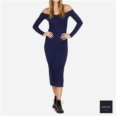 AMUSE SOCIETY WIDE AWAKE LS DRESS - Dark Navy