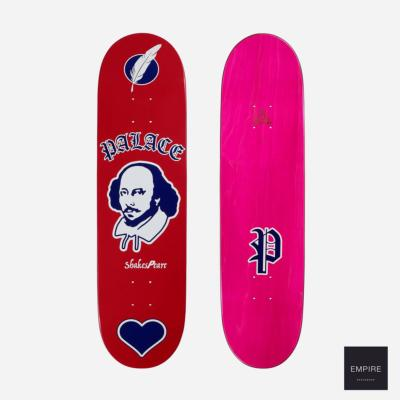 PALACE SKATEBOARDS SHAKESPEARE RED - 8.375