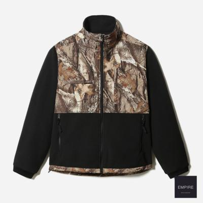 THE NORTH FACE DENALI 2 JACKET - Tnf Black Kelp Tan Forest Floor Print