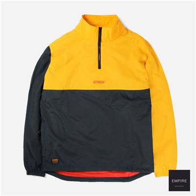 BUTTERGOODS COUNTER TRACK JACKET - Yellow Navy