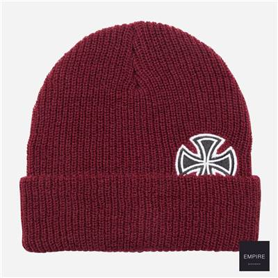 INDEPENDENT SOLO CROSS BEANIE - Oxblood