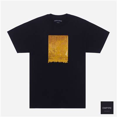 FUCKING AWESOME GOLD HIEROGLYPHIC TEE - Black