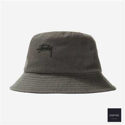 STUSSY STOCK BUCKET HAT - Grey