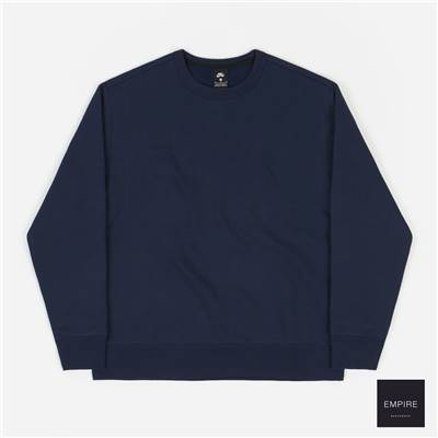 NIKE SB ORANGE LABEL CREWNECK SWEATSHIRT - Midnight Navy Dark Obsidian