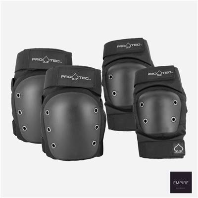 PRO-TEC ELBOW KNEE COMBO PACK - Black