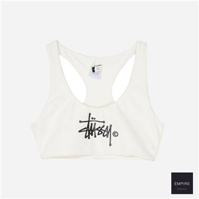 STUSSY SUNSET SWIM TOP - White