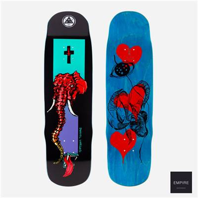 "WELCOME SKATEBOARDS ''TUSK'' DANIEL VARGAS ""ON EFFIGY"" 8.8 - Black"