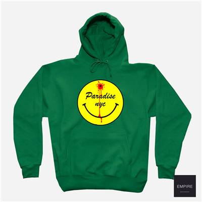 PARADIS3 DEAD SMILEY HOOD - Green