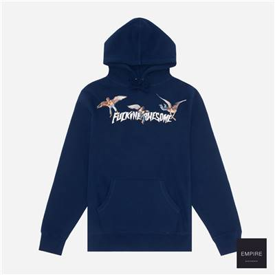 FUCKING AWESOME ANGEL STAMP HOODIE - Navy