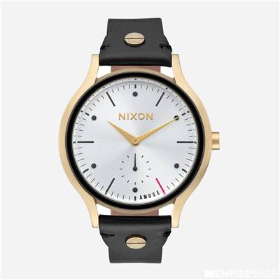 Montre NIXON x AMUSE SOCIETY SALA LEATHER - Gold Black