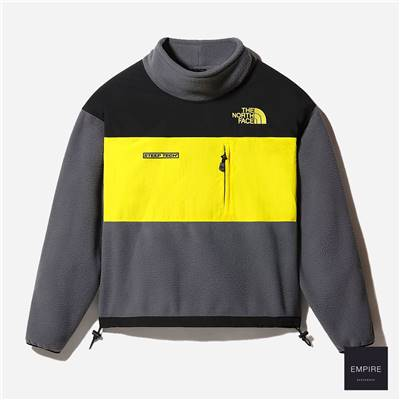 THE NORTH FACE STEEP TECH FLEECE JACKET - Vanadis Grey Tnf Black Lightning Yellow