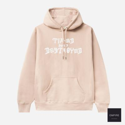 TIRED x THRASHER PULLOVER HOOD - Washed Pink