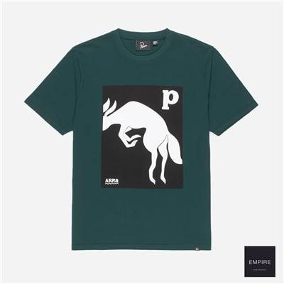 PARRA THE BROWN FOX TEE - Pine Green