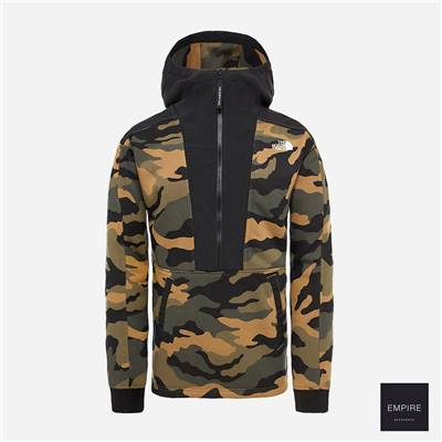 THE NORTH FACE GRAPHIC PO HOODIE - Burnt Olive Green Woods Camo Print