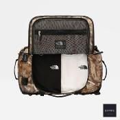 THE NORTH FACE DUFFEL BASE CAMP SMALL - Kelp Tan Forest Floor Print Tnf Black