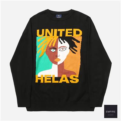 HELAS UNITED KNIT SWEATER - Black