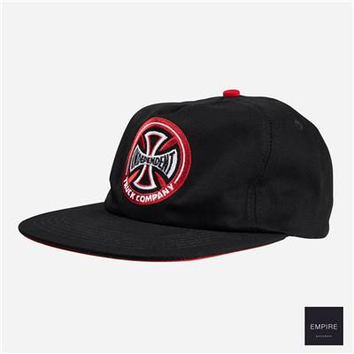 INDEPENDENT HOLLOW CROSS CAP - Black