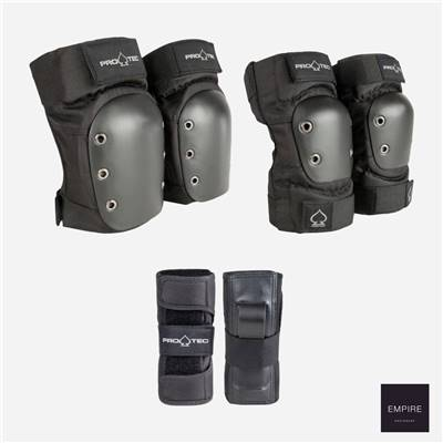 PRO-TEC STREET GEAR JUNIOR 3 PACK - Black