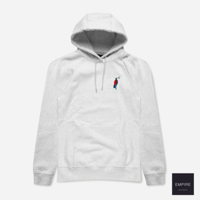 PARRA STARING HOODED SWEATER - Ash Grey