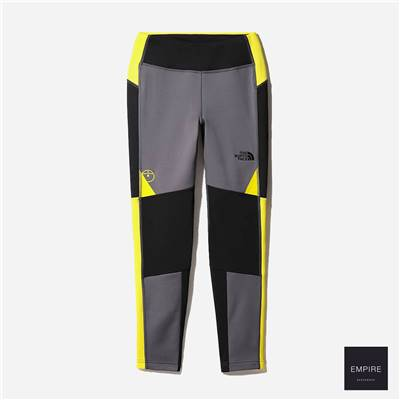 THE NORTH FACE STEEP TECH FLEECE TIGHT - Vanadis Grey Lightning Yellow