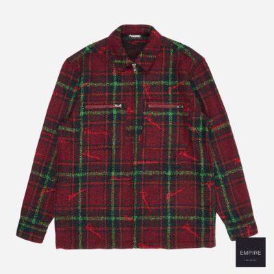 PLEASURES NOCTURNAL WOVEN WORK JACKET - Red