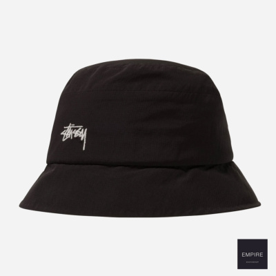 STUSSY OUTDOOR PANEL BUCKET HAT - Black