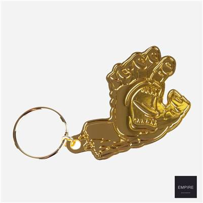SANTA CRUZ SCREAMING HAND KEYCHAIN - Gold