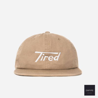TIRED LONG T LOGO SNAP BACK  - KHAKI