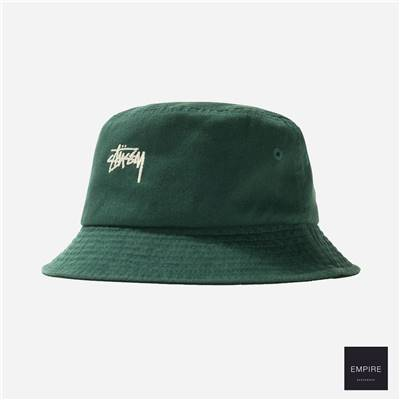 STUSSY STOCK BUCKET HAT - Green