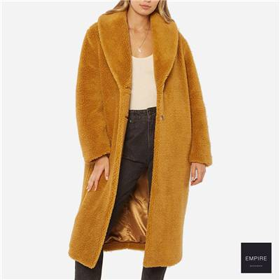 AMUSE SOCIETY BEKAH WVN SHERPA JACKET - Amber Light