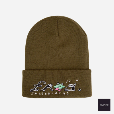 FROG SKATEBOARDS HAPPY FROG BEANIE - Olive