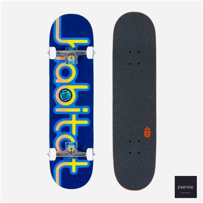 HABITAT SKATEBOARDS ''ERODED EXPO'' COMPLETE BLUE 8.0