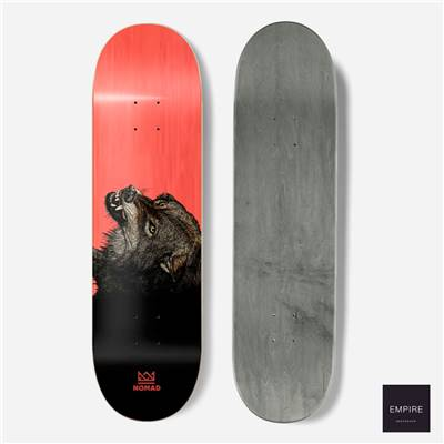 NOMAD SKATEBOARDS ''THE WOLF'' RED - 8.25