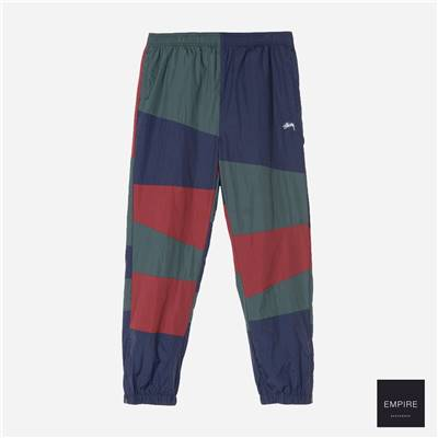 STUSSY PANEL TRACK PANT - Navy