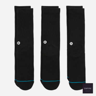 STANCE ICON 3 PACK BLACK