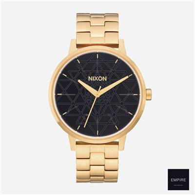 NIXON KENSINGTON - Gold Black Stamped
