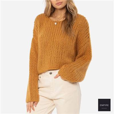 AMUSE SOCIETY DESERT SKIES LS KNIT SWEATER - Amber Light