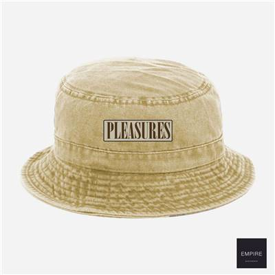 PLEASURES SPANK BUCKET HAT - Washed Khaki