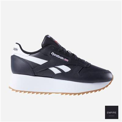 REEBOK CLASSIC LEATHER DOUBLE WOMEN - Black White Primal red