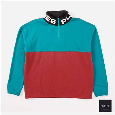 PLEASURES MISFIT HALF ZIP - Red