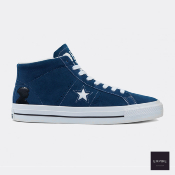 "CONVERSE CONS ONE STAR PRO MID ""BEN RAEMERS FONDATION"" - Navy/White/Black"